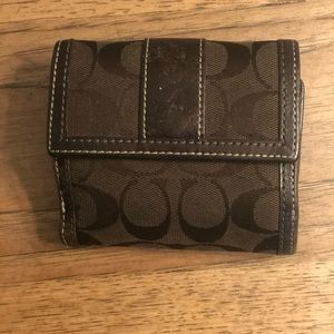 Used Coach brown wallet